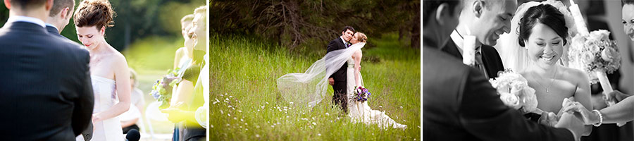 three wedding images